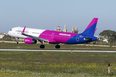 Luqa, Malta - 23 December 2015: Newest addition for WizzAir. Stock Photos