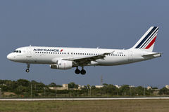 Luqa, Malta, el 19 de julio de 2015: Air France A320 Fotos de archivo