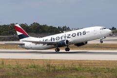 Luqa, Malta - 12 giugno 2005: 737 che decollano Immagine Stock Libera da Diritti