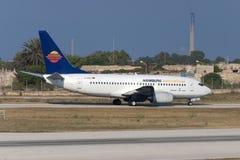 Luqa, Malta 20 giugno 2005: 737 sopra decollano Fotografia Stock Libera da Diritti