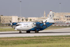 Luqa, Malta, il 27 giugno 2007: Rullare An-12 Fotografia Stock