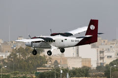 Luqa, Malta 31 January 2015: Petro Air Twin Otter landing. Stock Photos