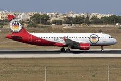 Luqa Malta, 19 Juli 2015: Air Berlin A320 Royaltyfri Foto