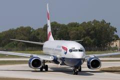 Luqa, Malta - 5 Juli 2007: BEDELAARS 737 royalty-vrije stock afbeeldingen