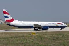 Luqa, Malta - 5 Juli 2007: BEDELAARS 737 stock foto's