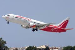 Luqa, Malta - 5. Juli 2007: Polnisches 737 Stockfoto