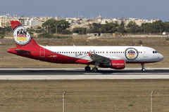 Luqa, Malta, 19 July 2015: Air Berlin A320 Royalty Free Stock Photo