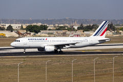 Luqa, Malta, 18 July 2015: Air France A320. Stock Images