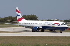 Luqa, Malta - 5 July 2007: BA 737. Royalty Free Stock Images