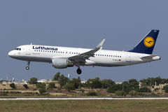Luqa, Malta, 19 July 2015: Lufthansa A320. Stock Images