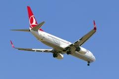 Luqa, Malta 29 June 2015: Boeing 737-8F2 on finals runway 31. Royalty Free Stock Photo