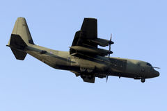 Luqa, Malta 29 June 2015: C-130 Hercules landing. Stock Photography