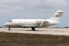 Luqa, Malta, 12 June 2005: Challenger 604. Royalty Free Stock Photos
