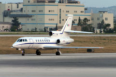 Luqa, Malta, 10 June 2005: Dassault Falcon 50 Stock Photo