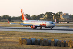 Luqa, Malta 2 June, 2015: Jet2 737 landing runway 13. Stock Photography