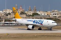 Luqa, Malta - 6 June 2005: Kuzu A300 freighter. Royalty Free Stock Photo