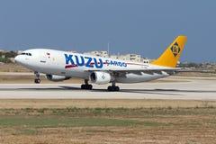 Luqa, Malta - 6 June 2005: Kuzu A300 freighter. Stock Photos