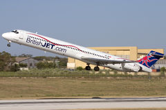 Luqa, Malta - 8 June 2007: Low Cost Airline. Royalty Free Stock Photography