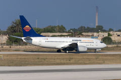 Luqa, Malta 20 June 2005: 737 on take off. Royalty Free Stock Photography