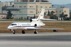 Luqa Malta, 10 Juni 2005: Dassault falk 50 Arkivfoto