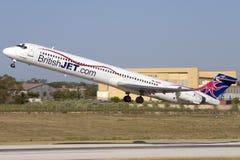 Luqa Malta - 8 Juni 2007: Low costflygbolag Royaltyfri Fotografi