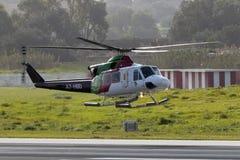 Luqa, Malta 5 2015 Luty: Bell 412 lądują 31 Obraz Stock