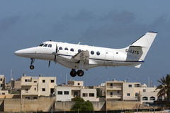 Luqa Malta, 12 mars 2008: BAe Jetstream Arkivfoto