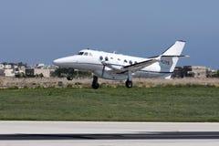 Luqa Malta, 12 mars 2008: BAe Jetstream Royaltyfri Foto