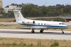 Luqa, Malta, 29 May 2007: Indian Air Force GIII. Royalty Free Stock Photos