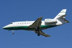 Luqa Malta, 7 November 2008: Dassault falklandning 2000 Arkivbilder