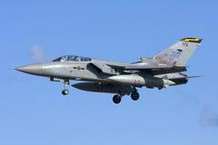 Luqa Malta 7 November 2008: RAF Tornado landning Arkivbilder