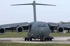 Luqa, Malta, 1 October 2012: C-17 on taxiway  Stock Image
