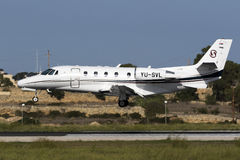 Luqa, Malta - 8 October 2015: Cessna Citation. Royalty Free Stock Images