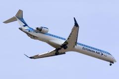 Luqa, Malta - 17 October 2015: Estonian Air on finals. Royalty Free Stock Photos