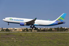 Luqa, Malta 8 October 2015: A330 landing. Stock Image