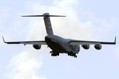 Luqa Malta 24 Oktober 2015: Landning C-17 Arkivfoto