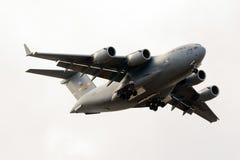 Luqa Malta 24 Oktober 2015: Landning C-17 Royaltyfria Bilder