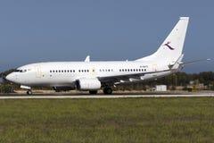 Luqa, Malta - 8 ottobre 2015: Cinese 737 BBJ Fotografia Stock Libera da Diritti