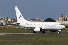 Luqa, Malta - 8 ottobre 2015: Cinese 737 BBJ Fotografia Stock