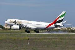 Luqa Malta - 10 September 2015: A330 Arkivfoto