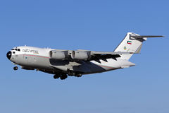 Luqa, Malta - 22 September 2015: C-17A landing runway 31. Stock Image