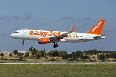 Luqa, Malta - 10 September 2015: Easyjet A320 Royalty-vrije Stock Foto's