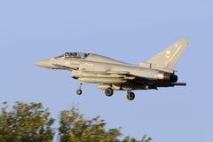 Luqa, Malta - 25 September 2015: Eurofighter Typhoon. Royalty Free Stock Images