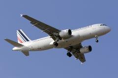 Luqa, Malta - 5. September 2015: Französisches A320 Lizenzfreies Stockfoto