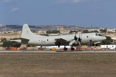 Luqa, Malta - 29 September 2014: German Orion take off. Royalty Free Stock Photos