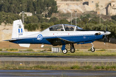 Luqa, Malta - 28 September 2015: Greek T-6 lifting off. Stock Photography