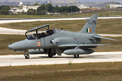 Luqa, Malta 6 September 2008: Hawk on delivery to India. Royalty Free Stock Images