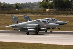 Luqa, Malta 6 September 2008: Hawks on delivery to India. Stock Photography