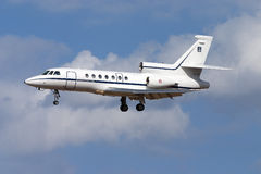 Luqa, Malta September 22, 2004: Italian Falcon 50 Royalty Free Stock Images