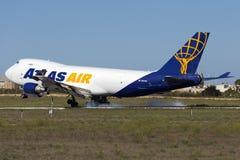 Luqa, Malta - 26. September 2015: 747 landend Lizenzfreies Stockfoto